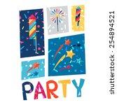celebration festive party... | Shutterstock .eps vector #254894521