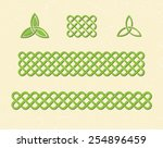 traditional green celtic style...   Shutterstock .eps vector #254896459
