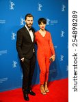 Small photo of BERLIN, GERMANY - FEBRUARY 11: Actor Jamie Dornan and Amelia Warner, 'Fifty Shades of Grey' premiere. 65th Berlinale International Film Festival at Zoo Palast on February 11, 2015 in Berlin, Germany.