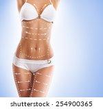 Постер, плакат: Female body with the