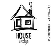 house sign sketch | Shutterstock . vector #254901754