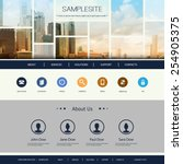 Website Design for Your Business with Singapore Skyline | Shutterstock vector #254905375