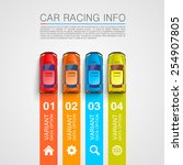 car racing info art cover  car... | Shutterstock .eps vector #254907805
