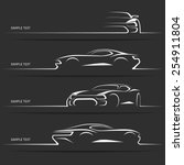 set of modern car silhouettes.... | Shutterstock .eps vector #254911804