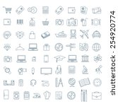 thin line vector  icon... | Shutterstock .eps vector #254920774
