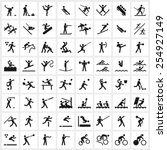 large set of vector sports... | Shutterstock .eps vector #254927149