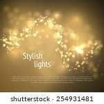 Golden Bokeh Wave Vector...