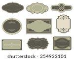 vintage labels   set of vintage ... | Shutterstock .eps vector #254933101