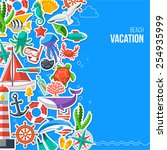 summer concept with flat icons. ... | Shutterstock .eps vector #254935999