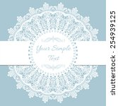 old lace vintage background.... | Shutterstock .eps vector #254939125