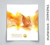 abstract triangular 3d... | Shutterstock .eps vector #254943961