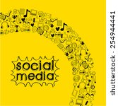 social media design  vector... | Shutterstock .eps vector #254944441