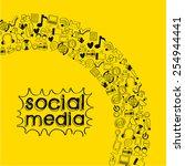 social media design  vector... | Shutterstock .eps vector #254944441