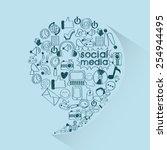 social media design  vector... | Shutterstock .eps vector #254944495