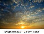 beautiful sunrise sky with cloud | Shutterstock . vector #254944555
