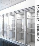 store with an empty fridge. 3d... | Shutterstock . vector #254946421