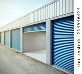 empty storage unit with opened... | Shutterstock . vector #254946424