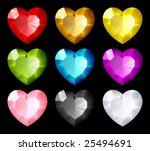 vector jewel set. hearts | Shutterstock .eps vector #25494691
