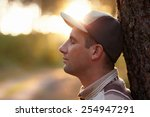 profile shot of a young man... | Shutterstock . vector #254947291