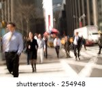 This is a New York City intersection abstract blur shot. - stock photo