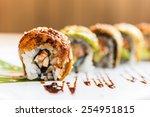 eel fish sushi roll maki  ...