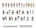 business people set   isolated... | Shutterstock .eps vector #254953321