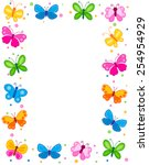 Colorful Butterflies Border  ...
