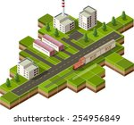 isometric illustration of a...   Shutterstock . vector #254956849