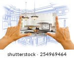 female hands framing custom... | Shutterstock . vector #254969464