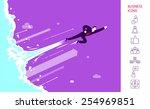 businessman is flying like...   Shutterstock .eps vector #254969851