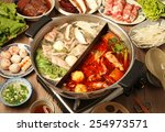 double flavor hot pot on the