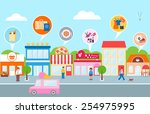 small business  vector... | Shutterstock .eps vector #254975995