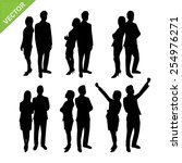 business woman silhouettes... | Shutterstock .eps vector #254976271