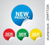 new product colorful sign  icon ... | Shutterstock . vector #254977234