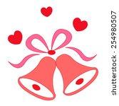 illustration of a elegant red... | Shutterstock .eps vector #254980507