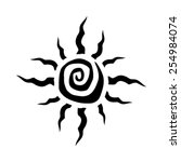 tribal sun spiral vector icon | Shutterstock .eps vector #254984074