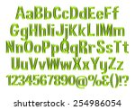 3d green alphabets big and... | Shutterstock . vector #254986054