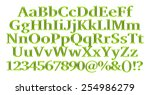 3d green alphabets big and... | Shutterstock . vector #254986279