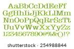 3d rendering of green alphabet. | Shutterstock . vector #254988844