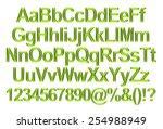 3d rendering of green alphabet. | Shutterstock . vector #254988949