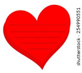 red heart for message made in...   Shutterstock .eps vector #254990551