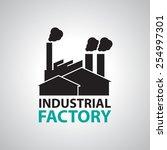 industrial building factory... | Shutterstock .eps vector #254997301