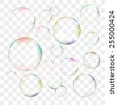 set of color transparent vector ... | Shutterstock .eps vector #255000424