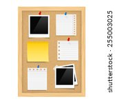Vertical Bulletin Board With...