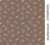 sweet sketch pattern   vector