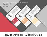 design clean number banners...