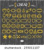 vector linear hipster labels.   Shutterstock .eps vector #255011107