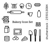 bakery vector icon set | Shutterstock .eps vector #255013084