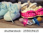 Baby Shoes And Pacifiers Pink...