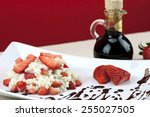 strawberry risotto with... | Shutterstock . vector #255027505